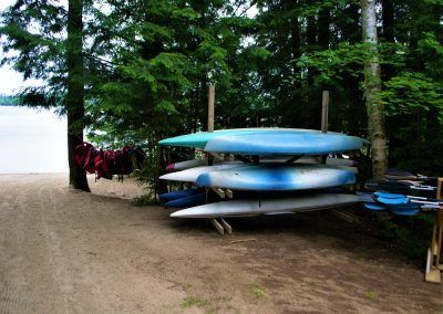 An image of the kayaking area at the Wenonah Outdoor Education Centre.