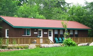 An images of the Camp Wenonah office in Muskoka.