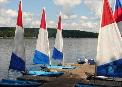 An image of the sail docks at the Wenonah Outdoor Education Centre.