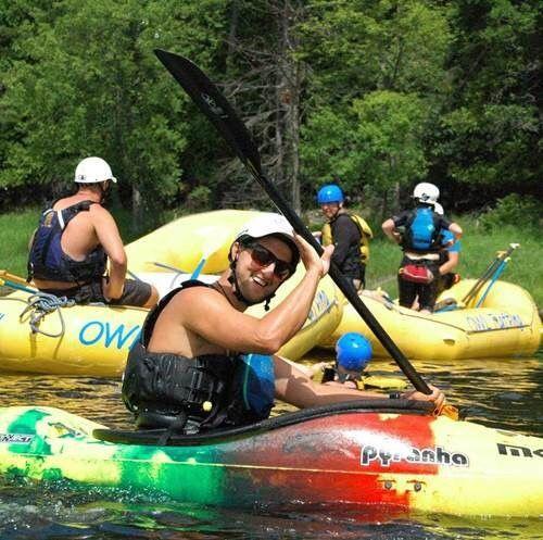 An image of Jamie Kennedy kayaking