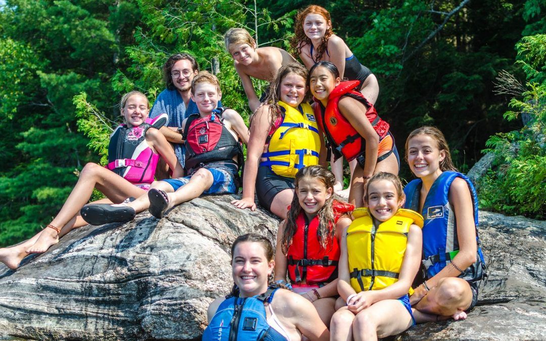 An image of summer campers at Camp Wenonah